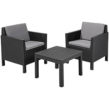 allibert lounge set in rattanoptik victoria balkon 3 teiliges set rattan. Black Bedroom Furniture Sets. Home Design Ideas