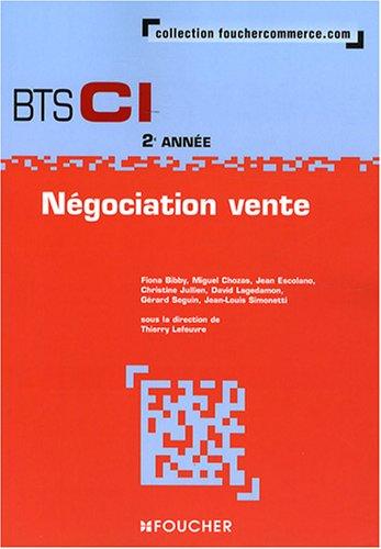 Négociation vente BTS CI 2e année par Thierry Lefeuvre