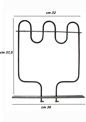 Resistencia inferior horno eléctrico Hot Point Ariston Indesit 1000W re0504