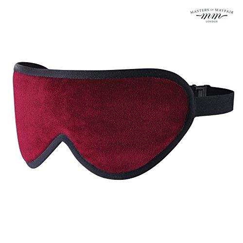 Edles Weinrot luxuriöse Schlafmaske von Masters of Mayfair - Handgefertigte Augenmaske aus feinen organischen Stoffe, Bambusseide & Lavendel. Weich, lichtundurchlässig und der ideale Reisebegleiter. Die beste Einschlafhilfe, inklusive - Besten Welten Kostüme Die