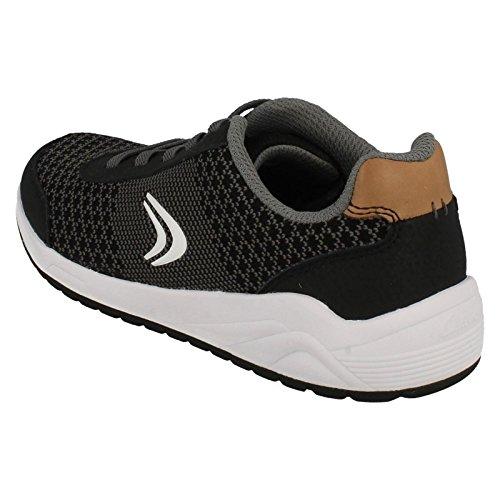 Clarks Frisbyrise Jnr, Sneakers Basses Garçon Black Combi