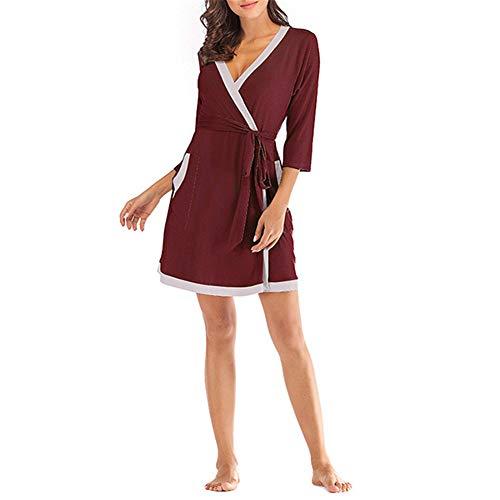 Mujeres Kimono Batas Algodón Ligero Bata Corta Tejido Albornoz Ropa de Dormir...