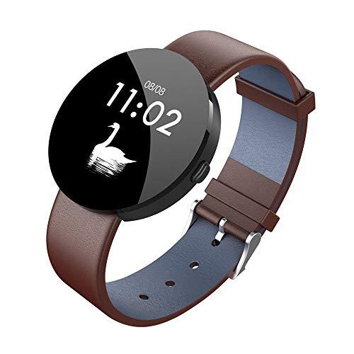 Igemy Sport Smart Watch Kinder, Armband 1,3 Zoll IPS Farbdisplay Herzfrequenzmonitor Fitness Tracker mit Physiologischer Test (Braun)