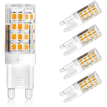 ascher 4 packs g9 led bulbs 5w 51 smd led energy saving bulbs with super
