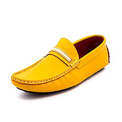 Belle Gambe Men's Yellow PU Loafers (341-2) -11 UK