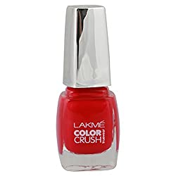 Lakme True Wear Color Crush Nail Color, Reds 24, 9 ml