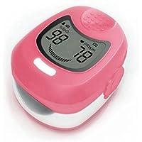 Sports enfant/pédiatrique doigt Oxymètre de pouls et moniteur de fréquence cardiaque avec batterie rechargeable, chargeur secteur et sangle de transport - de la fréquence cardiaque et SPO2