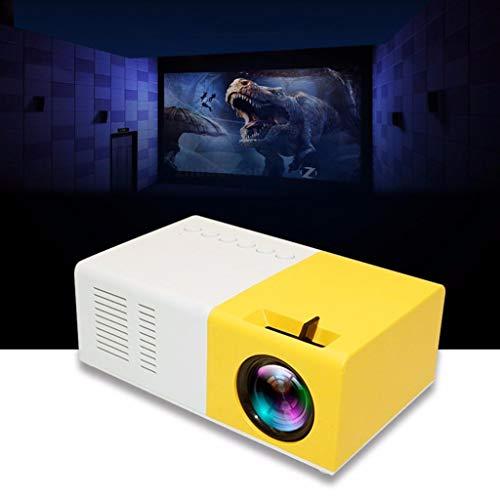 Blingko Neuer 1080P Heimkino USB HDMI AV SD Mini tragbarer HD LED Projektor HD Projektor Beamer Heimkinosysteme Media-Streaming AV-Receiver Verstärker Blu-ray-Player Fernseher (Yellow)