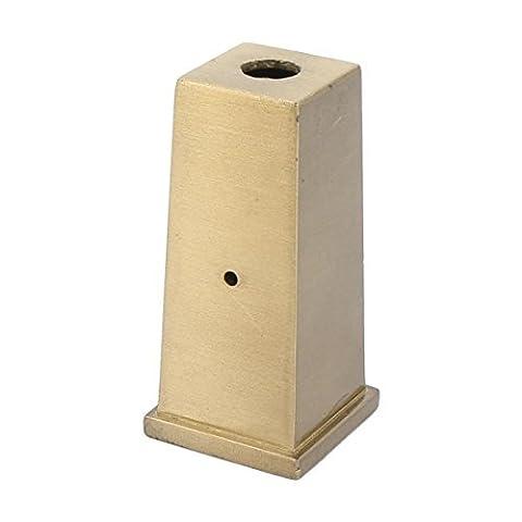 DealMux Metallmöbel Seal-Form-Schreibtisch Tischplatz Hohe Fuß Set-Abdeckungs-Schutz Messing Ton
