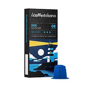 Il Caffè Italiano - Nespresso 100 Capsule compatibili - Decaffeinato Intensità 8 - Frhome