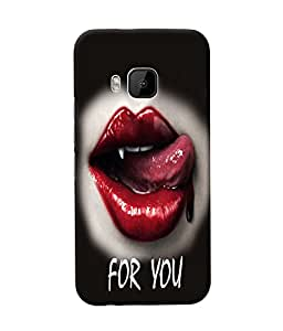 Fuson Blood Red Lips Back Case Cover for HTC ONE M9 - D3717