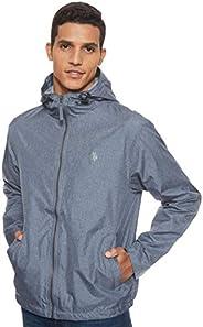 U.S. Polo Assn. Men's Classic Solid Windbreaker Jacket, Blue (Cnht), Me