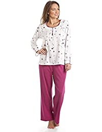 Ladies Marquise Poppy Chain Polycotton Pyjamas Nightwear Sleepwear 57310