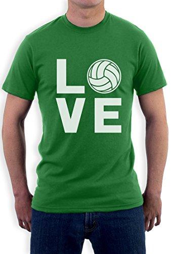 Love Volleyball - Sportliches Geschenk T-Shirt für Sports - Freunde T-Shirt  Grün b629034434