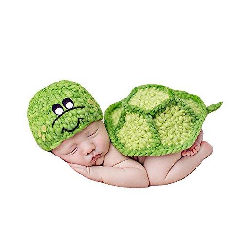 MADICN Baby Foto Stütze Schildkröte Form Outfit Kleidung -