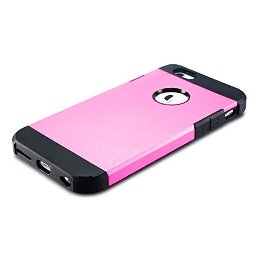 GHC Cases & Covers, Hybrid PC + TPU Tough Armor Farbe Hard Case Cover für iPhone 6 ( Color : Gold ) Pink