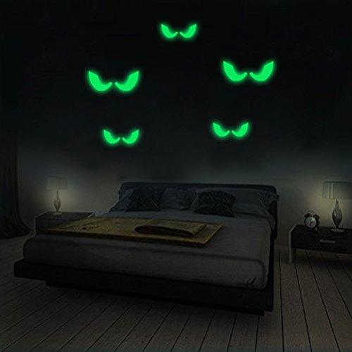leuchtaufkleber wandsticker fluoreszierend und im Dunkeln leuchtend für Kinderzimmer und Babyzimmer Schlafzimmer, Wände & Decken (Halloween Paar Idee)