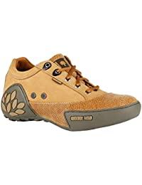 Woodland Men's Camel Leather Sneakers