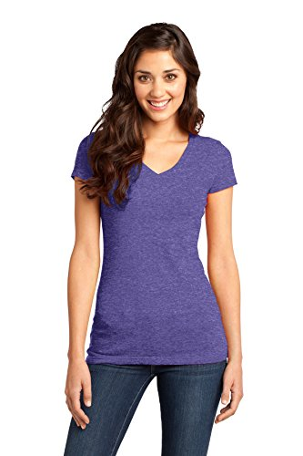 District® - Juniors Very Important Tee® V-Neck. DT6501 Heathered Purple L