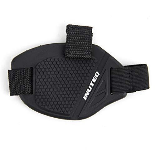 Preisvergleich Produktbild LIOOBO Gummi Motocross Shift Pad Motorrad Gear Shifter Schuh Stiefel Protector Shift Socke Motorradstiefel Abdeckung (Schwarz + Weiß)