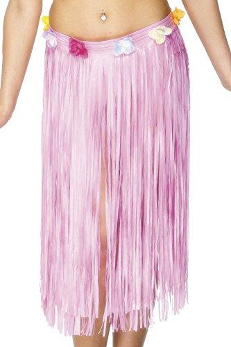 Smiffy's 28985 - Hawaiian Hula Rock-Baby mit Blumen und Klettverschluss, 29 Zoll, rosa (Hawaiian Dress Up Kostüme)