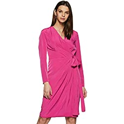 Avirate Women's Wrap Dress (AVDR102093_Castlerock_6)