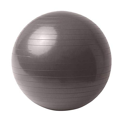 �r Yoga, Balancestabilität, Fitness, Pilates, Geburtstherapie, Büro, Ball, Stuhl, Klassenzimmer, Flexibler Sitz, Anti-Burst, Rutschfest, grau, 65 cm ()