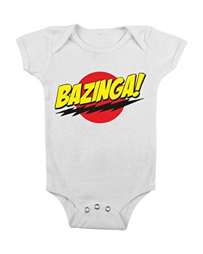 BODY BAZINGA - BIANCO - NEONATO/A