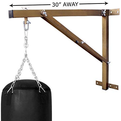 Farabi Boxsack-Wandhalterung Boxsack Wandhalterung Heavy Tasche Wandhalterung Heavy Duty Workout Rahmen Boxing Bag Kleiderbügel Ständer Training Heavy Bag Wandhalterung starrer Wand Unterstützung (folded-gold, 2.5-ft)