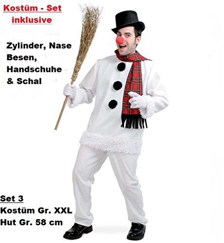 Tanz Kostüm Schneemann (KOSTÜM & ZUBEHÖR, 7 tlg. Kostüm - Set,
