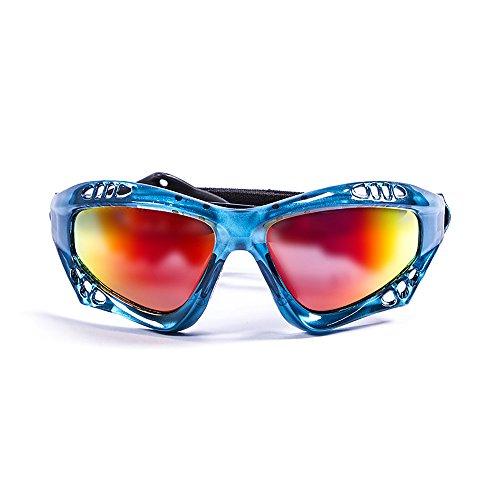 OCEAN SUNGLASSES - Australia - lunettes de soleil polarisÃBlackrolles  - Monture : Bleu Transparent - Verres : Revo Jaune (11701.6)