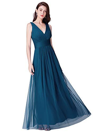 Ever-Pretty Vestido Largo Fiesta Mujer Dama