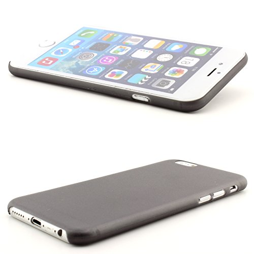 iPhone 6 / 6S Handy Rückschale Plastik Cover ultra slim Case Schutz Hülle Hartplastik Backcover ScorpioCover orange schwarz