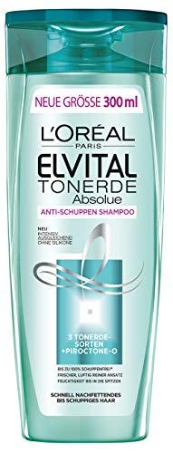 L'Oréal Paris Elvital Tonerde Absolue Pflegeshampoo, bei fettendem Ansatz und trockenen Spitzen, silikonfrei,  3er Pack (3 x 300 ml)