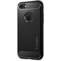 Cover iPhone 7, SPIGEN® Cover Custodia [Rugged Armor] Impressionante Nero [Design Meccanica Durevole] Massima Protezione Da Cadute e Urti, Nero
