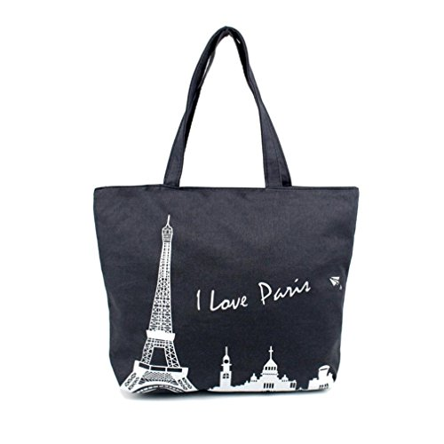 Transer  Women Shoulder Bag Popular Girls Hand Bag Ladies Canvas Handbag, Damen Schultertasche 30cm(L)*40(H)*10cm(W), Image A (Mehrfarbig) - YHL60902187 Image D