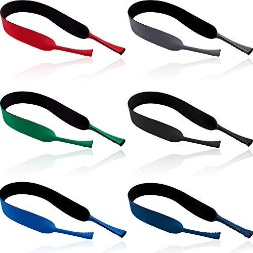 6 Stücke Schwimmen Brillen Halter Schwimmen Sonnenbrillen Bänder Neopren Brillen Halter Weiches Brillen Band für Sport Wasser Aktivitäten im Freien