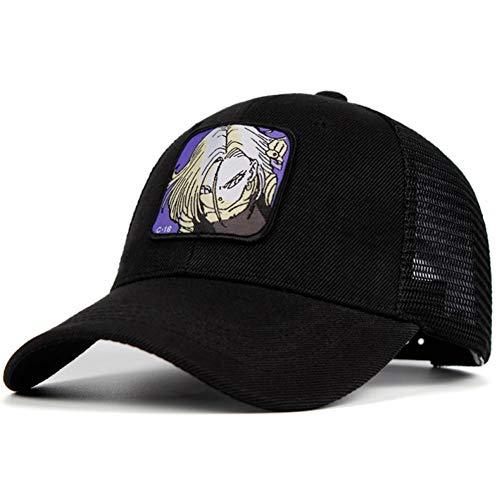 Mesh Hut Dragon Ball Baumwolle C-18 Baseball Cap Männer Frauen Hip Hop Trucker Papa Hut Sommer ()