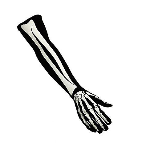 Partilandia Guantes de Esqueleto Largos