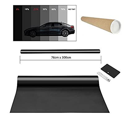 PROMO Lien Film teinté pour vitre de voiture fenêtre Film de protection solaire lumière Noir 5% 76x 300cm