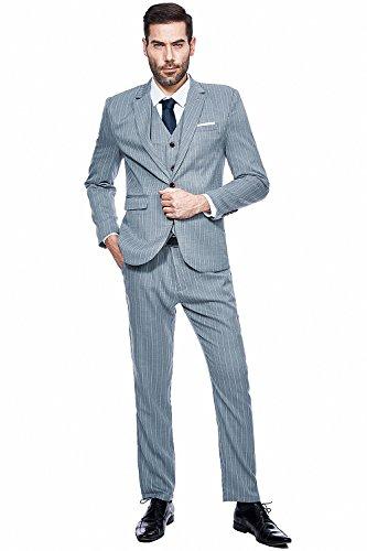 Gomy abito completo uomo striscia 3-pizze elegante giacca a bottone