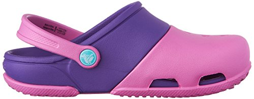 Crocs Electro Ii, Sabots - Mixte enfant Rose (Party Pink/Neon Purple)