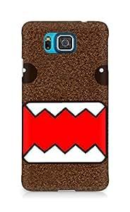 Amez designer printed 3d premium high quality back case cover for Samsung Galaxy Alpha (Simple domo kun)