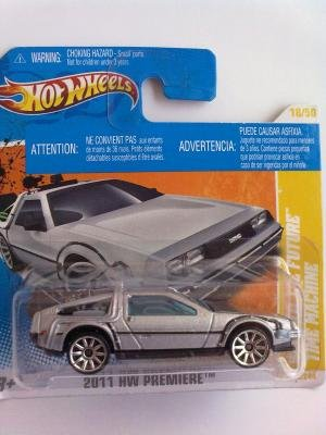 Hot Wheels 2011-018 - 1981 DeLorean DMC-12 SILVER Back To The Future Time Machine 1:64 Scale by Mattel