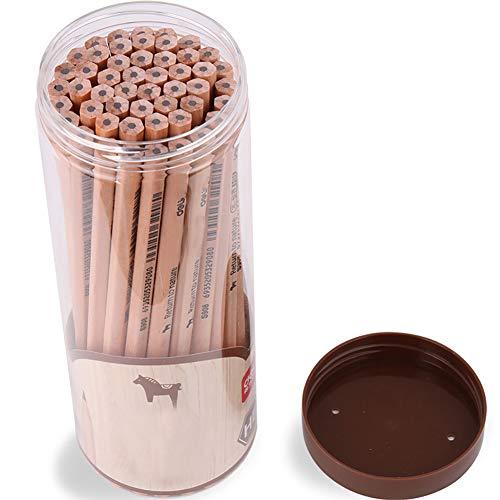 Holzgefasste Stifte Raw Natural Wood Bleistifte HB Büro Schulbedarf Graphitstifte Malerei Zeichnung Kunst Bleistifte 30Pcs Supplies