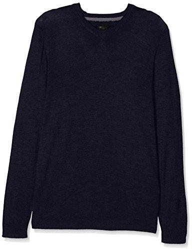 Venti Herren Pullover 162504602, Blau (Blau 135), Medium (Herstellergröße: Mt) (Pullover Medium Reiner Wolle)