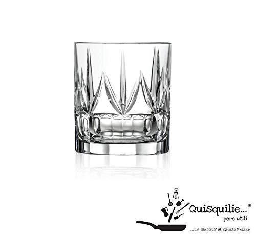 RCR Chic Luxion Verrerie en Cristal Verres à vin, Verres à Whisky, Verres et flûtes à Champagne, Verre, 350 ML