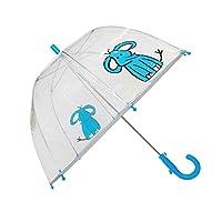 SMATI Parapluie Enfant Transparent Cloche - Bordure fluorescente