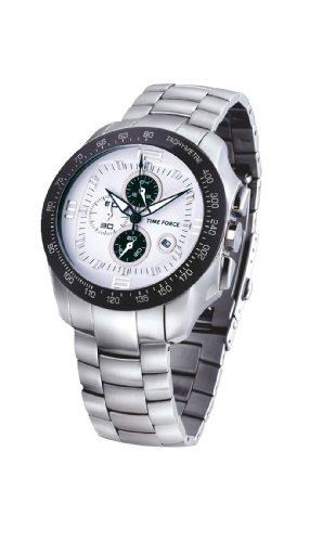 Time Force - TF2907M10M - Montre Homme - Quartz Analogique - Cadran Noir - Bracelet en Acier