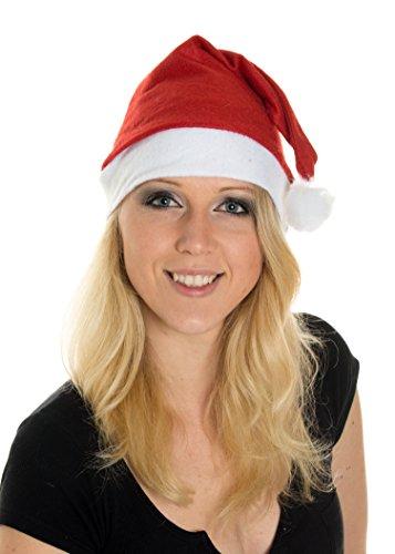 hnachtsmütze Nikolausmütze Winter Mütze Mützen Nikolaus Santa Rot (Weihnachtsmützen)